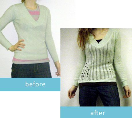 How to Distress a Sweater