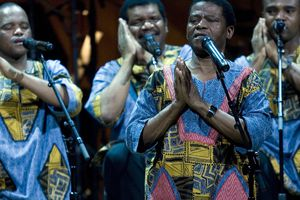 Ladysmith Black Mambazo perform during the Library Of Congress Gershwin Prize For Popular Song Gala