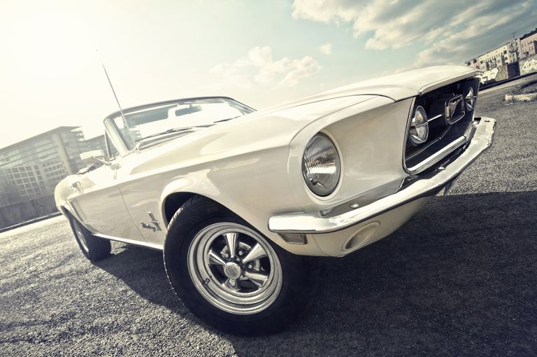 1968 Ford Mustang white convertible