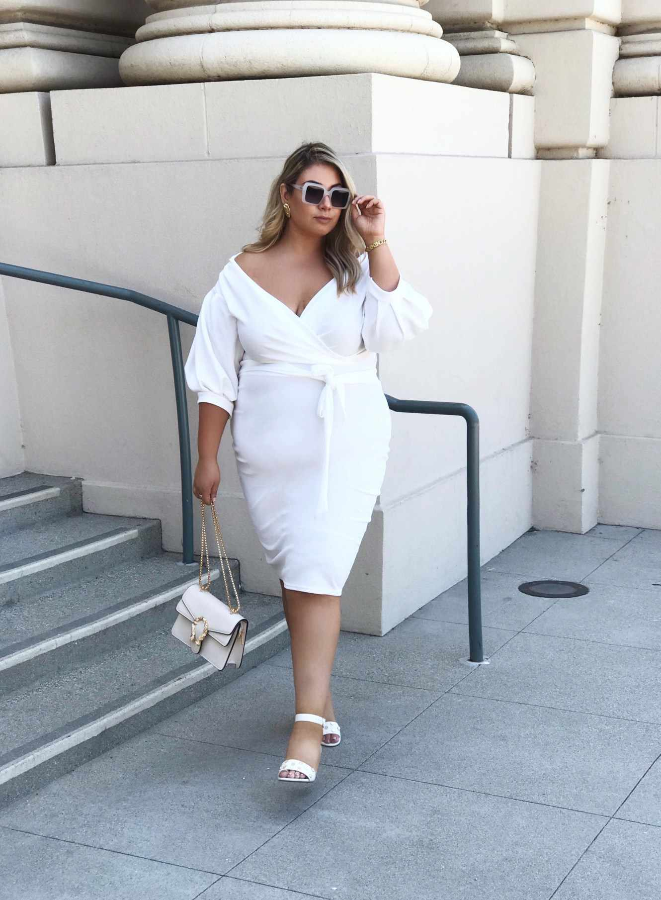 Woman in Little White Dress