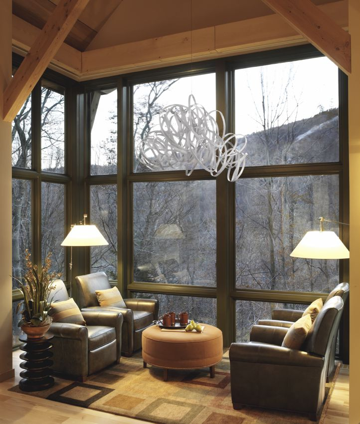 Photo of the HGTV Dream Home's Glassed-in Annex.
