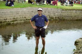 Jean Van de Velde in the Barry Burn at the 1999 British Open