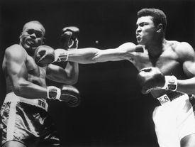 Cassius Clay punching Doug Jones