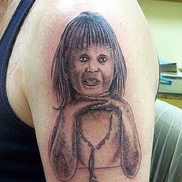 20 Funny Portrait Tattoos That Went Seriously Wrong #people are dumb #just ugh #tattoos gone wrong #grammar #get it right please #rant #tattoos are permanent. 20 funny portrait tattoos that went