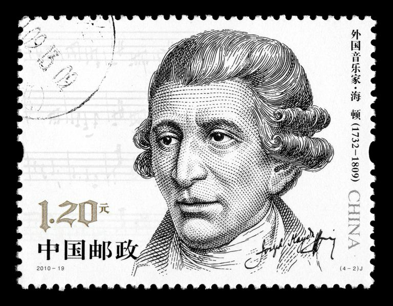 Franz Joseph Haydn on a stamp