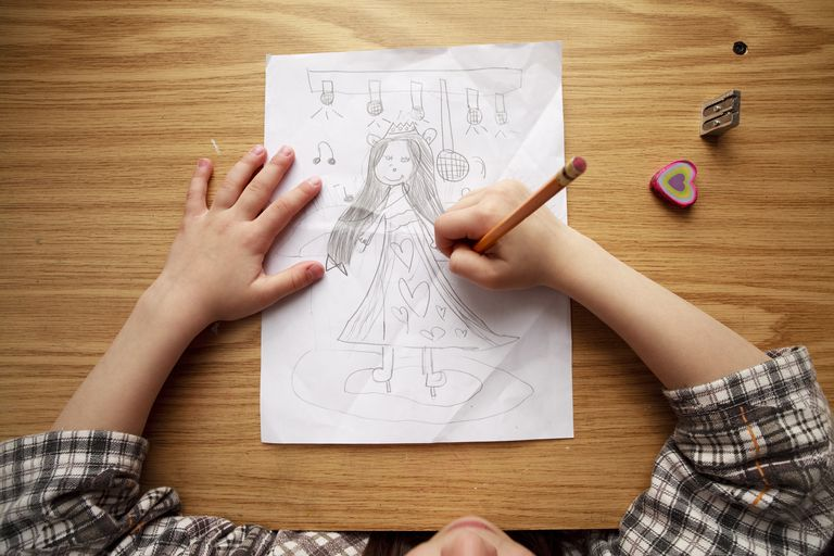 Girl drawing
