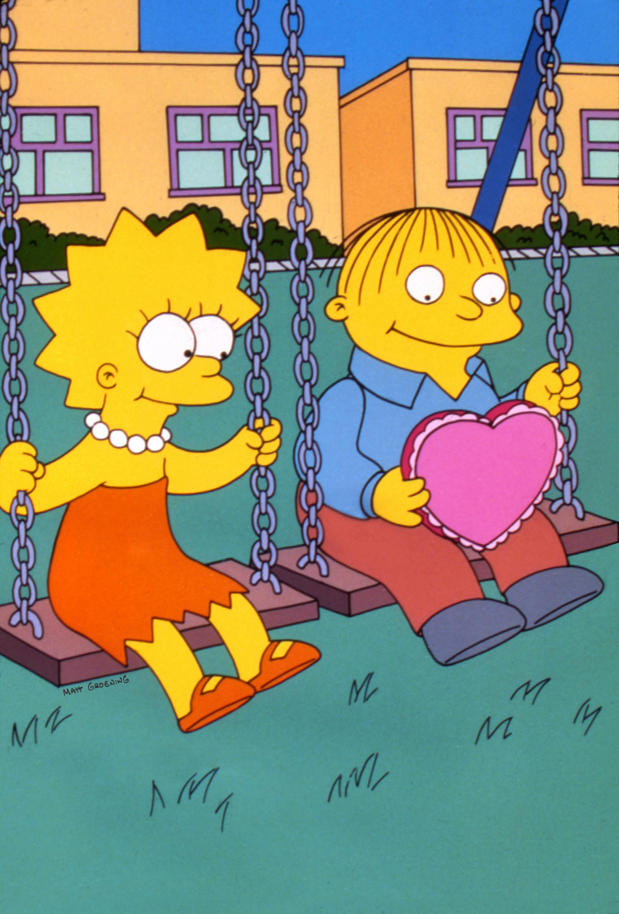 Lisa Simpson and Ralph Wiggum