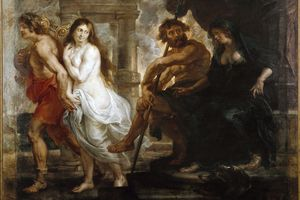 Orpheus and Eurydice in Pluto's realm