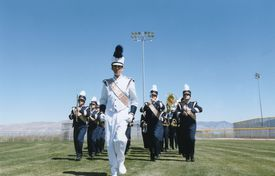 Marching Band in Field