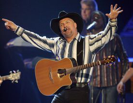 LAS VEGAS - MAY 18: Music artist Garth Brooks performs during the 43rd annual Academy of Country Music Awards at the MGM Grand Garden Arena May 18, 2008 in Las Vegas, Nevada.