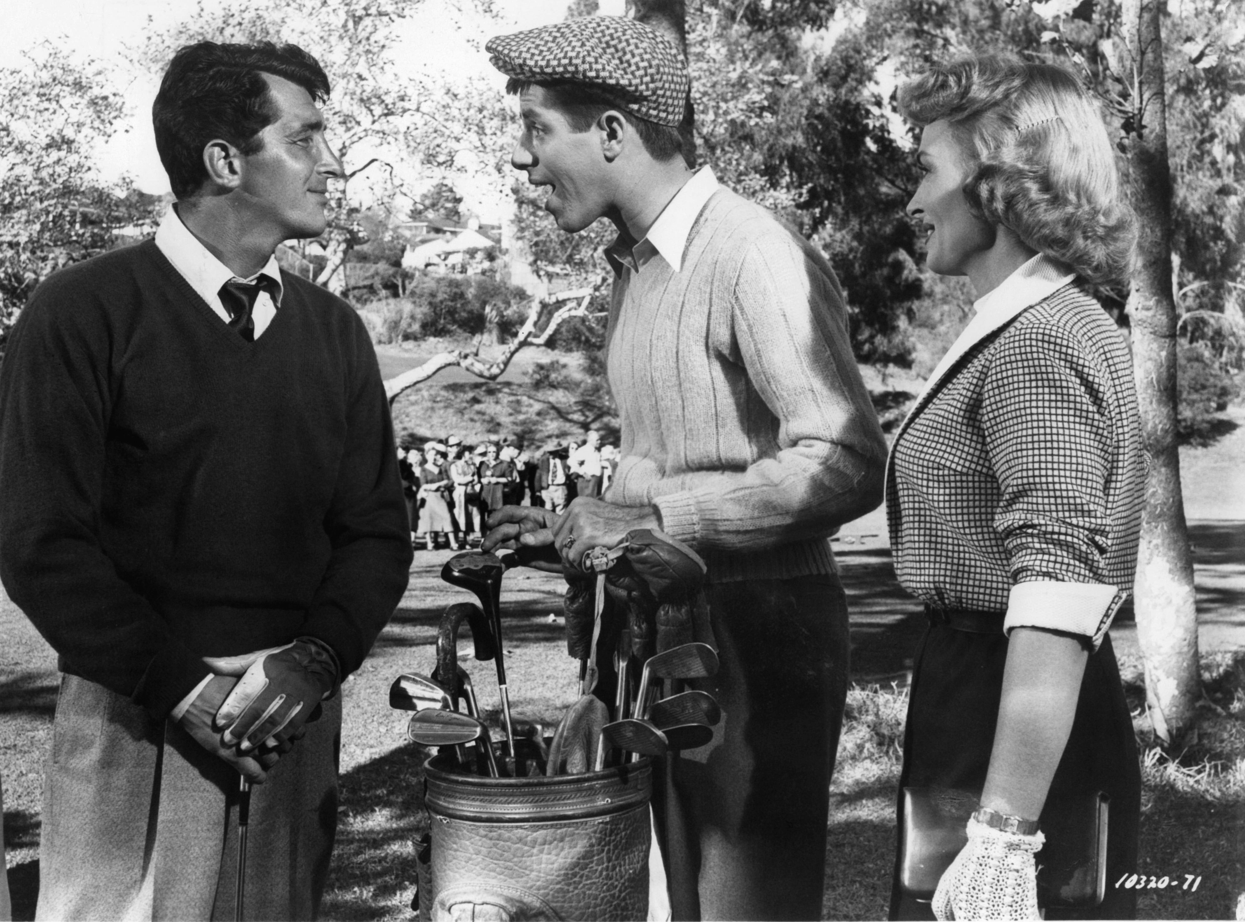 Dean Martin, Jerry Lewis and Donna Reed in The Caddy