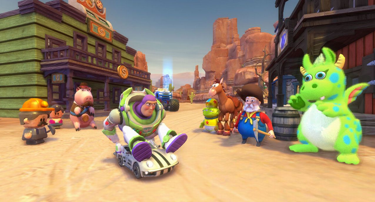Gameplay of the PlayStation Move game Toy Story 3