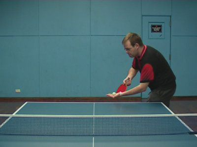 Photo of FH Tomahawk Topspin/Sidespin Serve - Ready Position