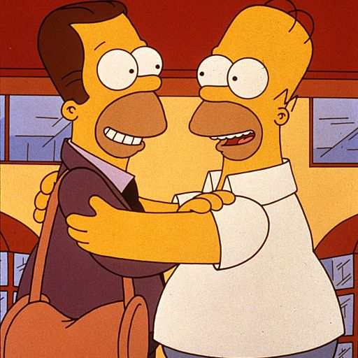 Homer Simpson and his half-brother