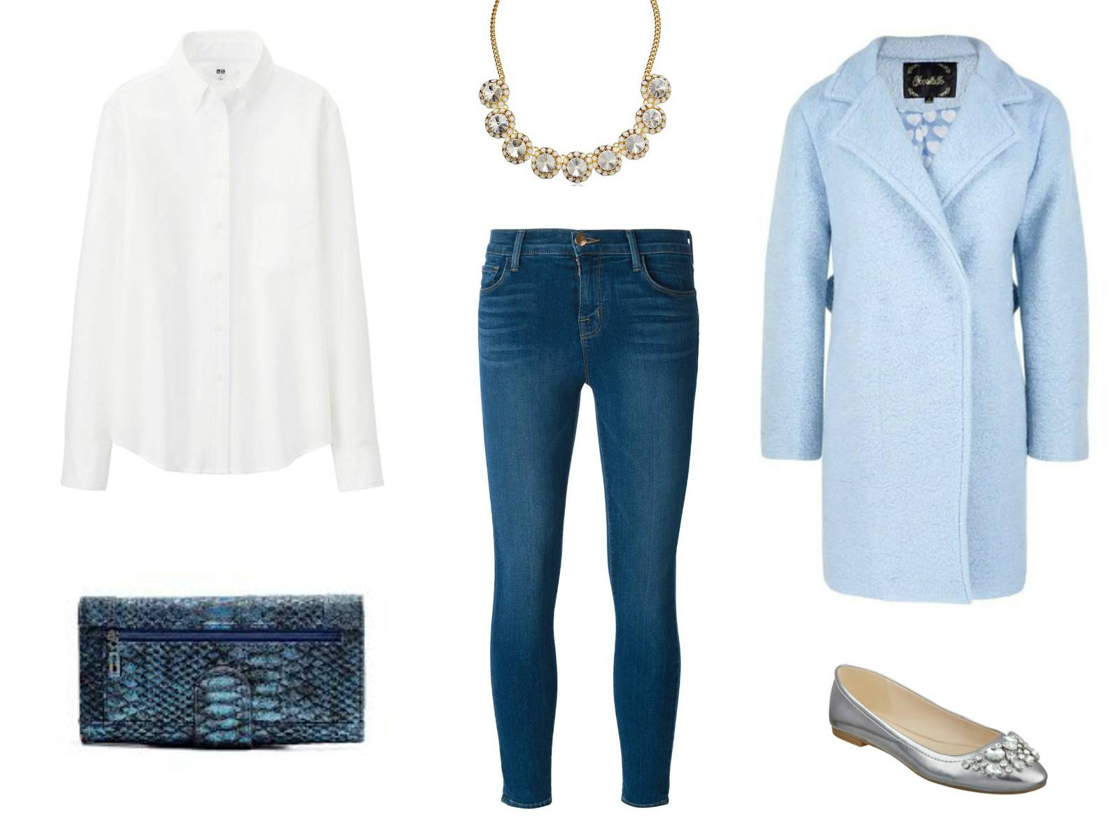 Outfit idea - cropped jeans and white shirt