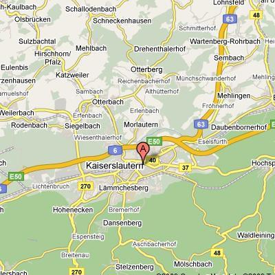 Kaiserslautern, Germany on Google Maps