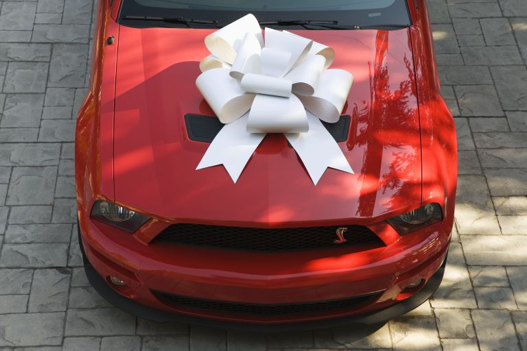 Bow on New Ford Shelby GT500 Convertible