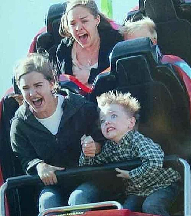 Image result for kid on rollercoaster