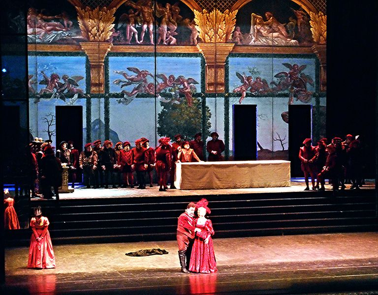 "A performance of ""Rigoletto"" full color photograph."