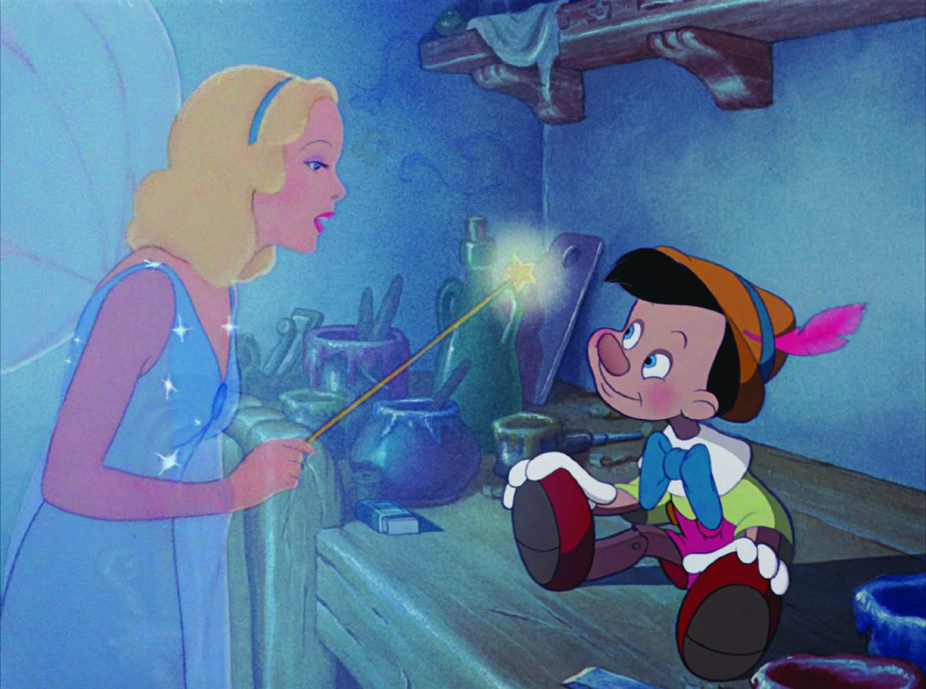Pinocchio with the fairy