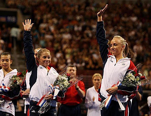 Shawn Johnson and Nastia Liukin gymnastics photo