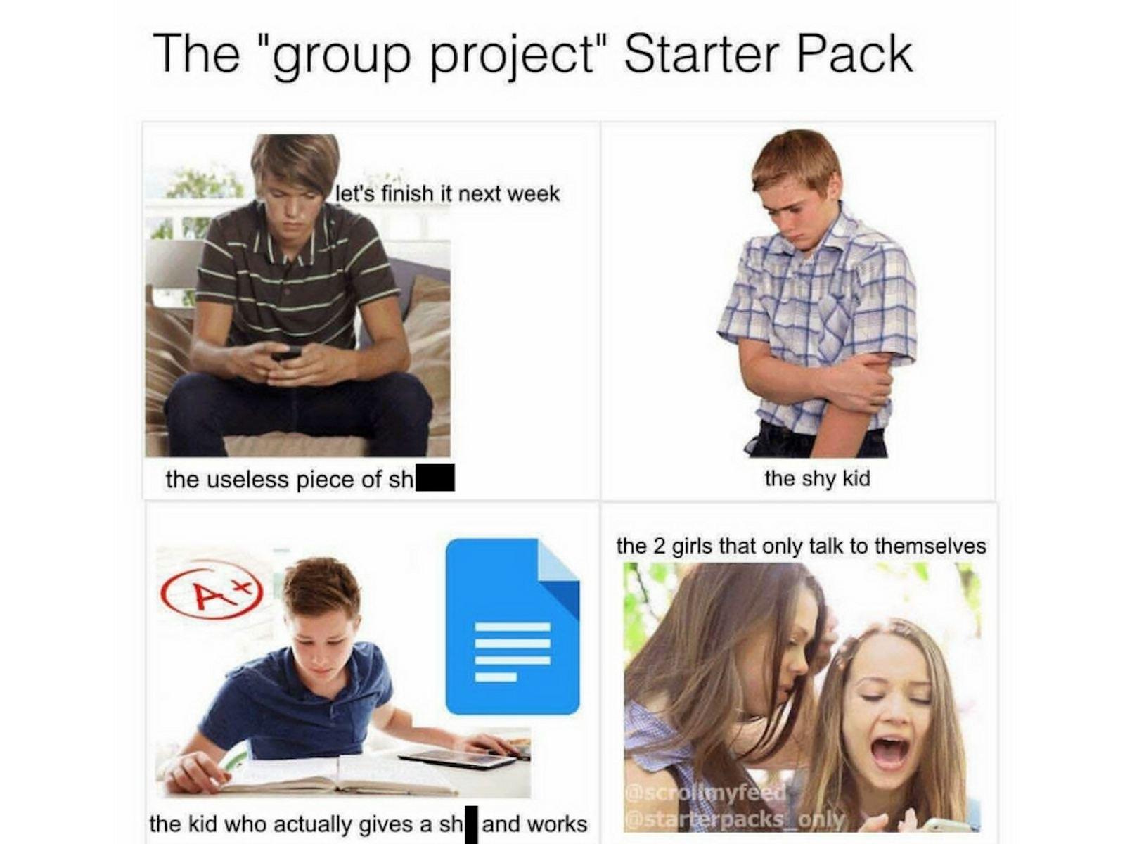 Starter Pack school meme