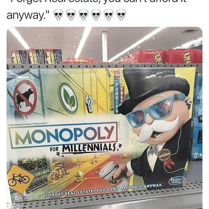 Monopoly game for Millennials