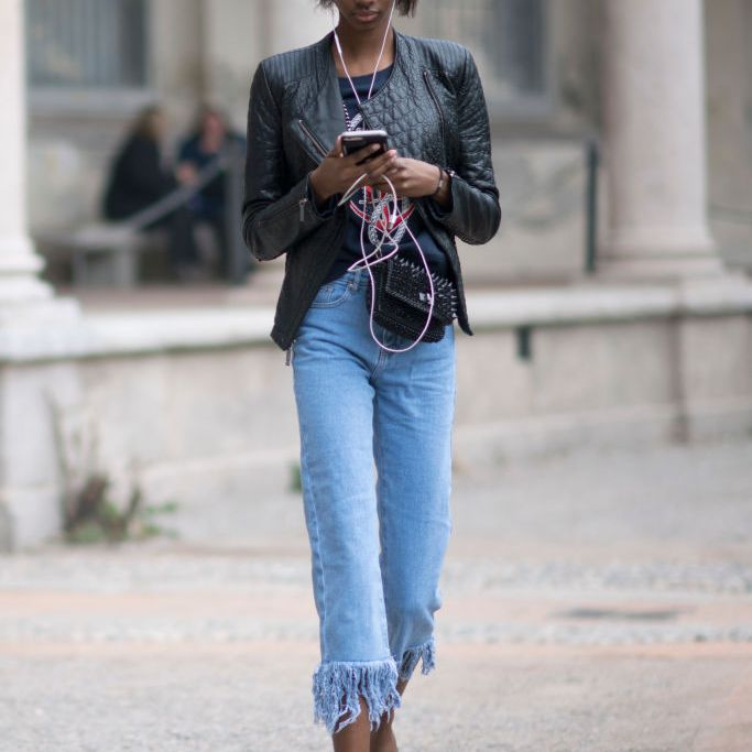 Get Fringe Hem Jeans  Images