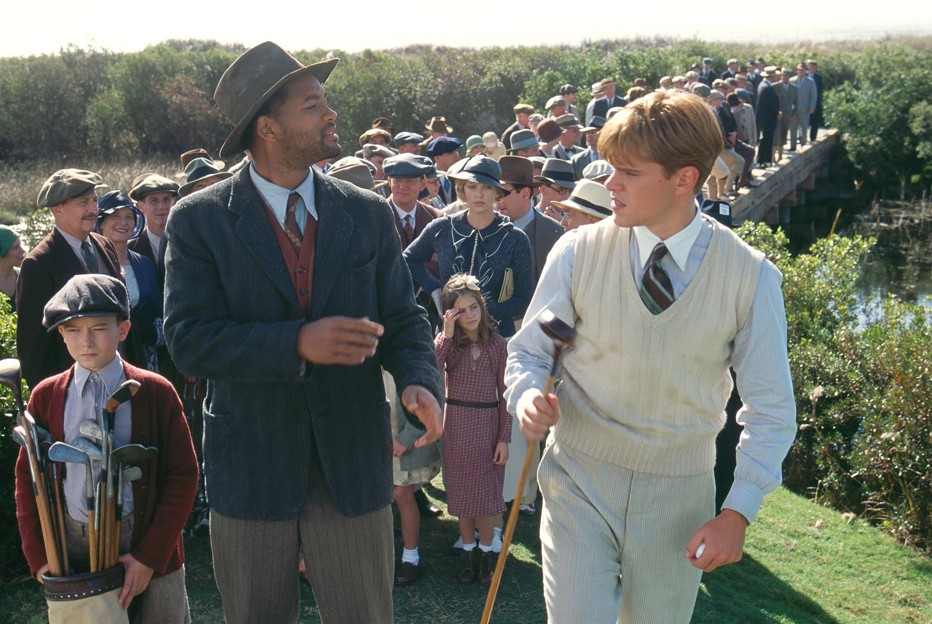 Will Smith and Matt Damon in a scene from The Legend of Bagger Vance