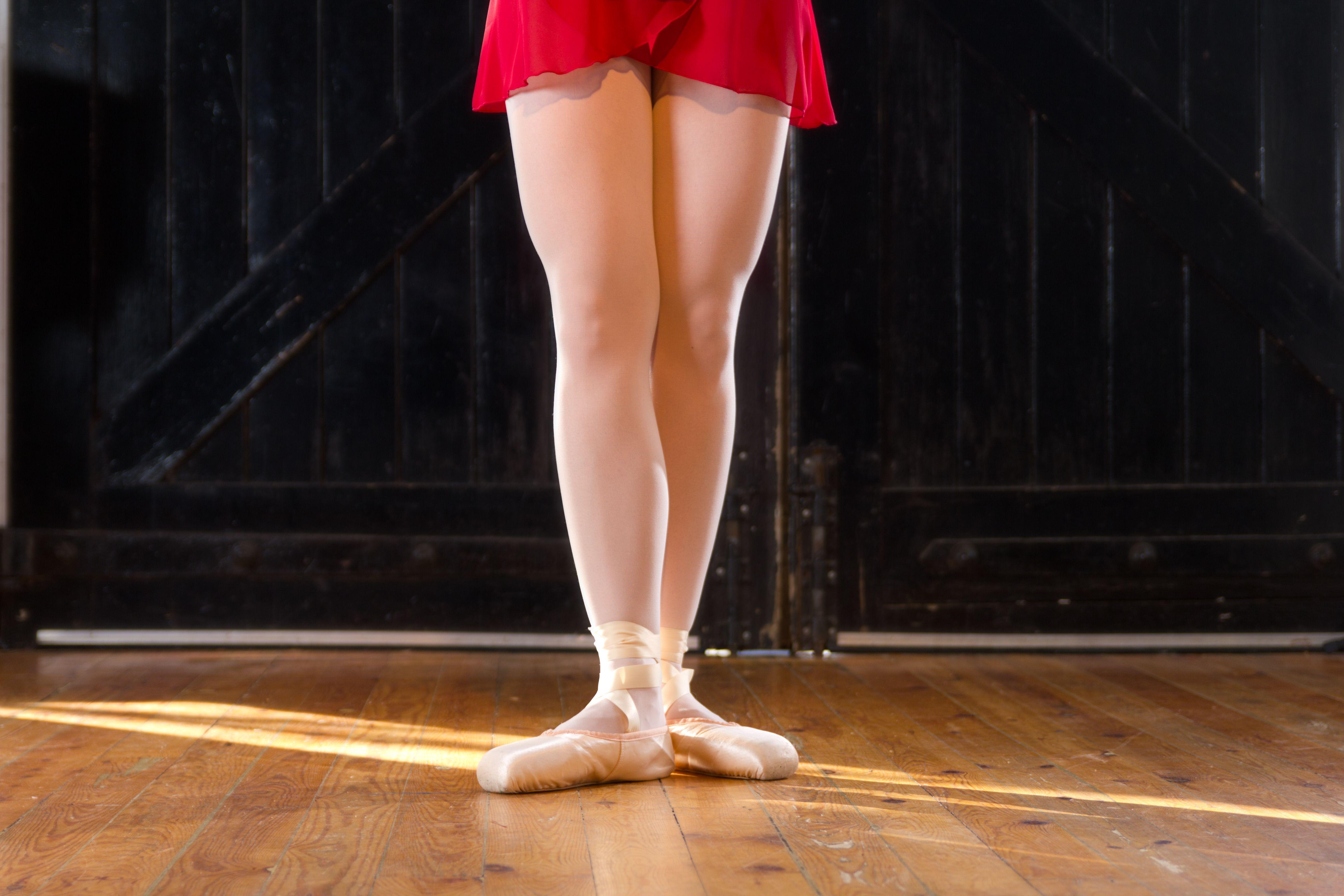 Ballet Dancer With Feet In Third Position