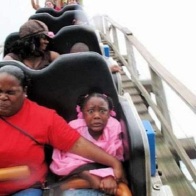 Terrified Daughter on Coaster