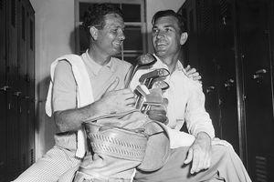 Jimmy Demaret with Ben Hogan Smiling