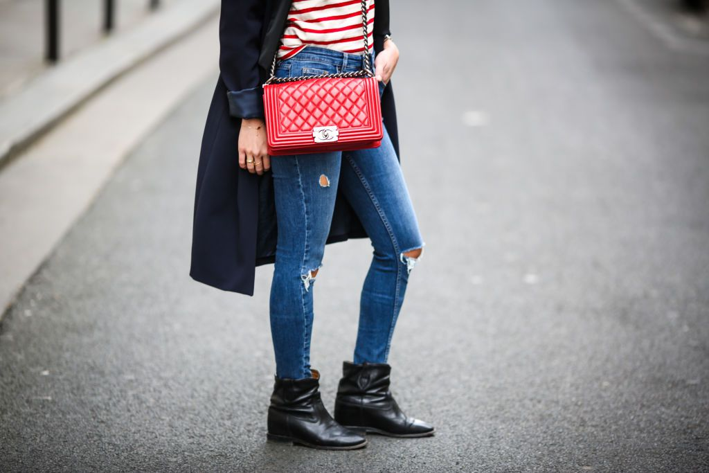 Slouchy ankle boots and jeans