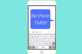 A text message saying
