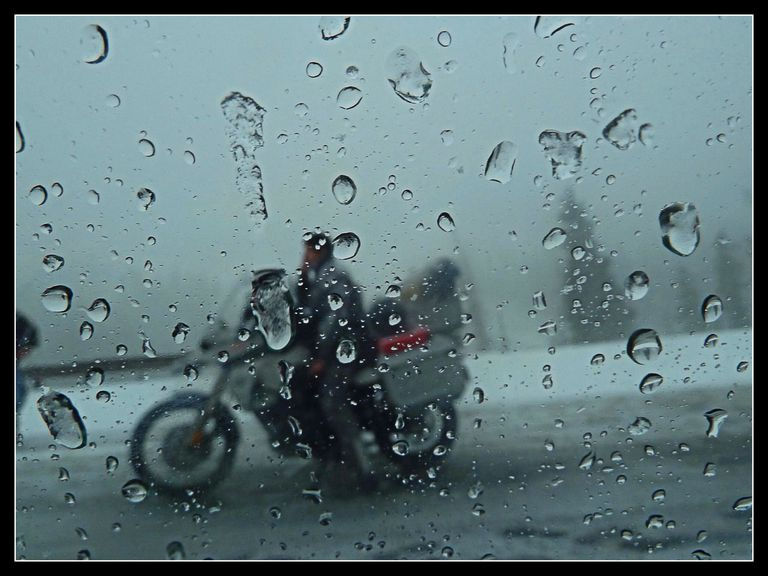 Rainy Weather Motorcycle Riding