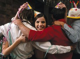 Group Hug at Party