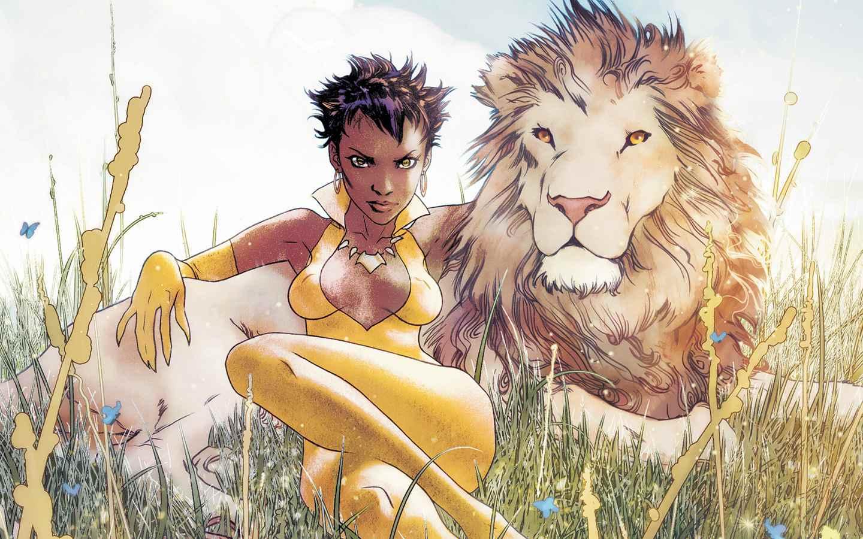 "Comic panel of Vixen from ""Vixen: Return of the Lion"" (2008)"