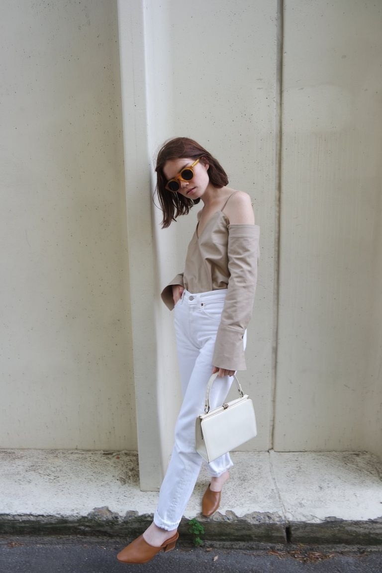 e2037059806b Fashion Forward Going-Out Look in Skinny White Jeans