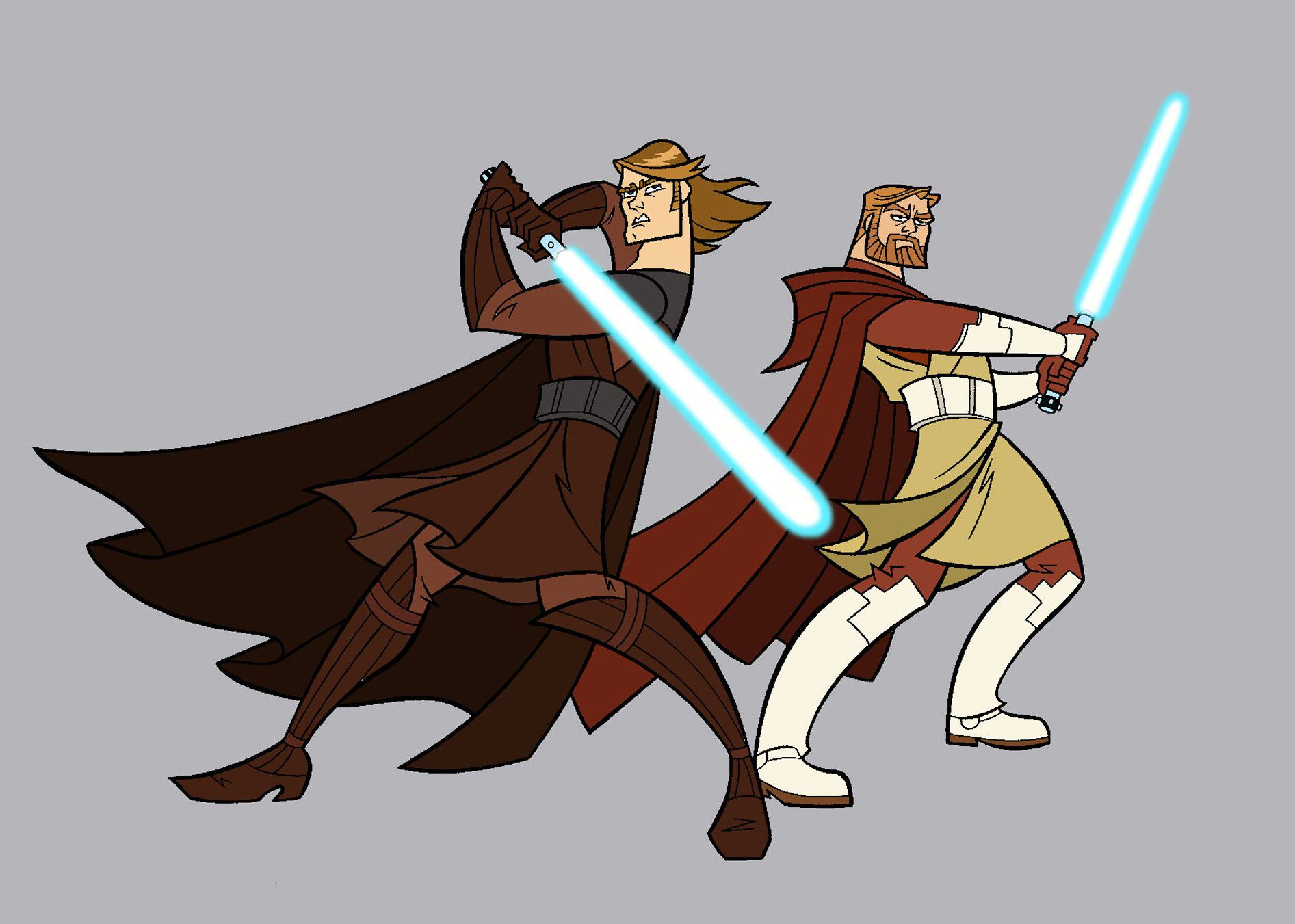 'Clone Wars' Jedi Knights Anakin and Obi Wan