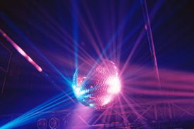 Low Angle View Of Illuminated Disco Ball