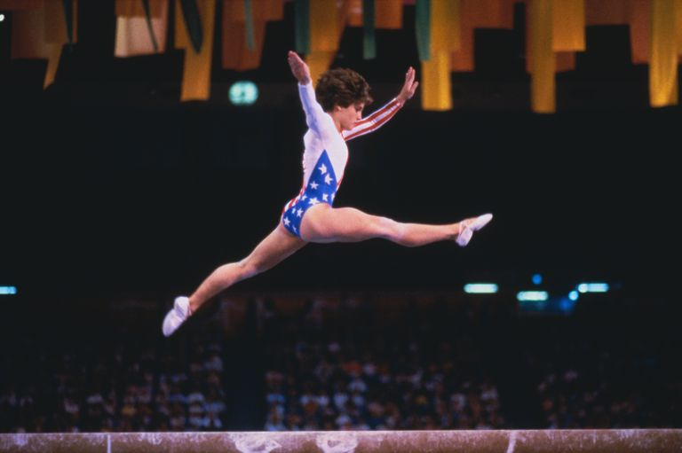 Mary Lou Retton on balance beam