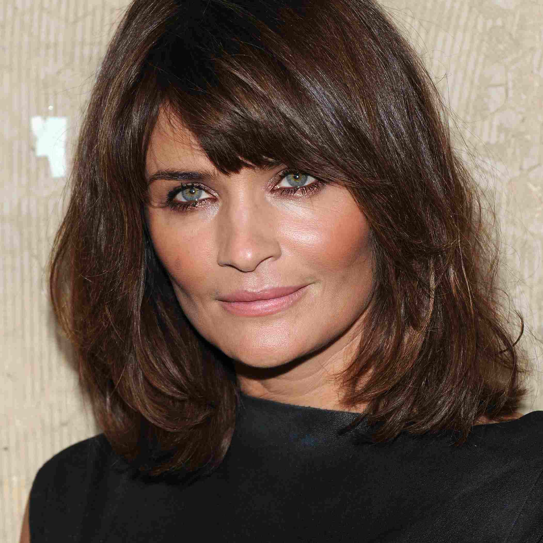 Side-swept Bangs, Shoulder-length Hair for Square Faces