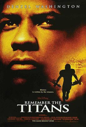 Movie poster for Remember the Titans