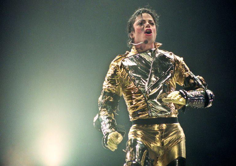 """Michael Jackson performs on stage during his """"HIStory"""" world tour concert"""