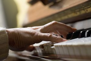 Playing a chord on a piano