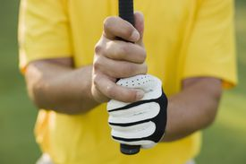 A demonstration of The Vardon Grip used in golf