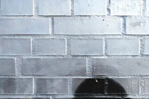 Silver paint on a wall