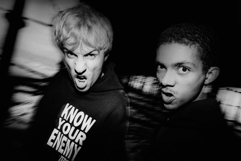 Atari Teenage Riot's Alex Empire And Carl Crack 1992
