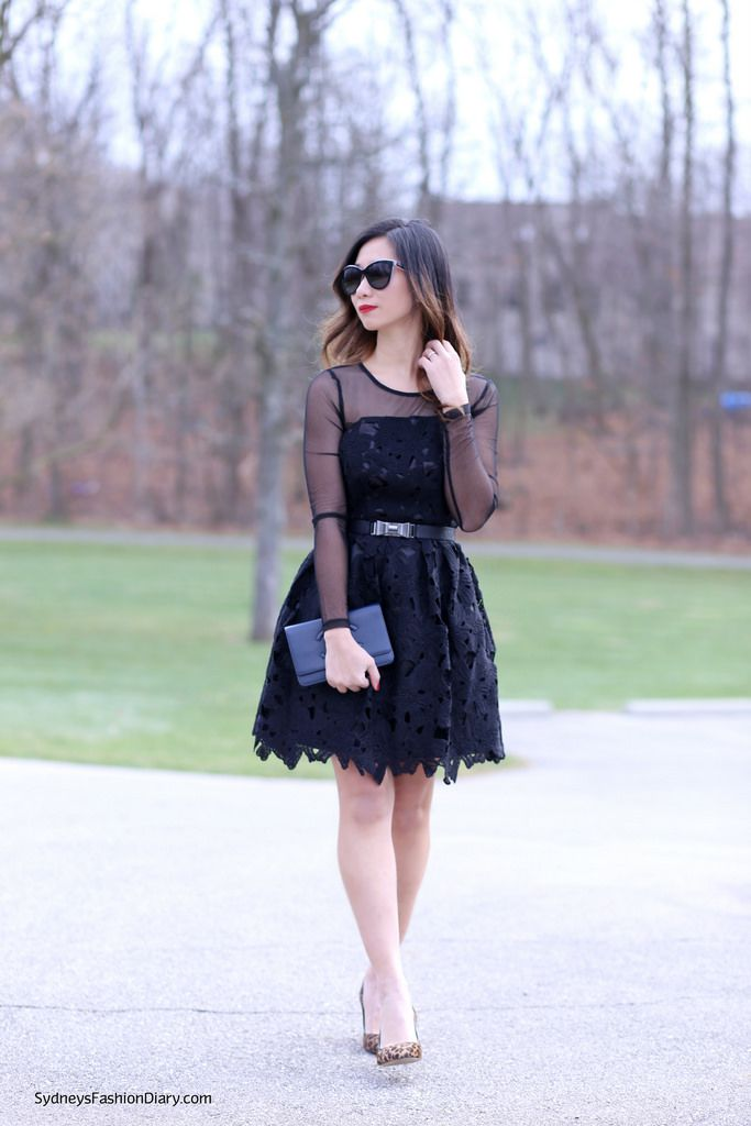 c1eee3e3abf2 Black Lace Dress. Date Outfit in Black Lace Dress. Image from Sydney s  Fashion Diary