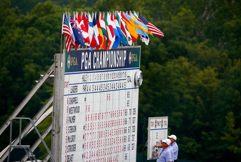2nd round scoreboard at the PGA Championship